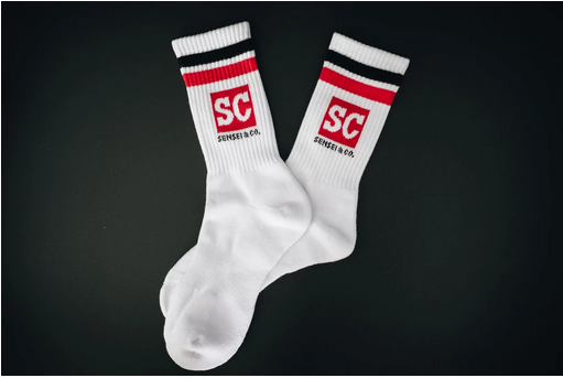 Sensei & Co. White Socks